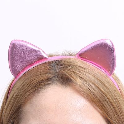 칼라 폼 고양이 머리띠 (핑크)