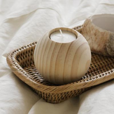 소나무 빈티지 촛대 (大)