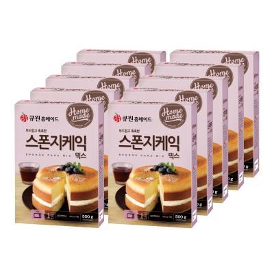 (한박스10개입)큐원 스폰지케익믹스 (오븐용)