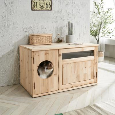 파로마 원목 고양이 화장실 반려묘용품 C형 WI26