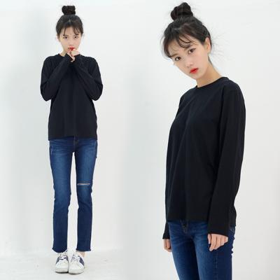 DGI1820-1 여자기본라운드긴팔면티셔츠-빅사이즈99
