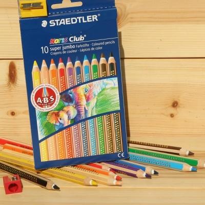 슈퍼점보 10색 색연필..스테들러 Noris Club 129NC10
