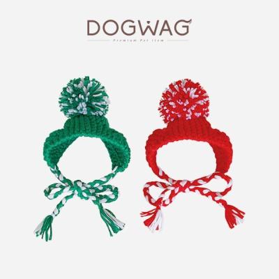 [도그웨그 DOGWAG] 강아지&고양이 방울 니트모자