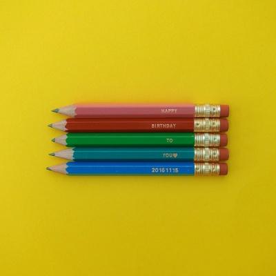 흑심 미니연필세트(연필각인)