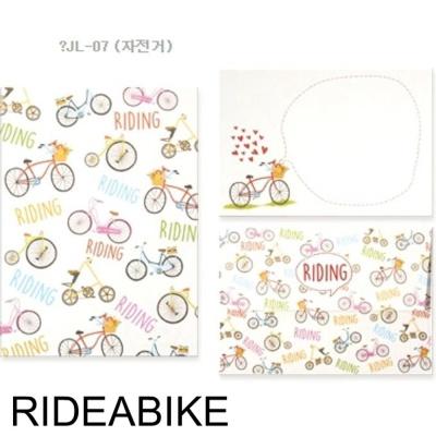 디원 미니 편지지 JL07 자전거 1개