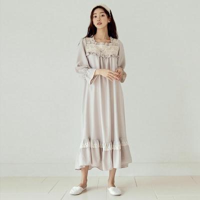 [쿠비카]바스트 이중 레이스 원피스 여성잠옷 W837