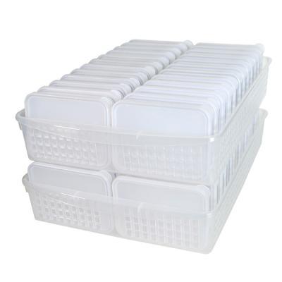 냉장고문수납 트레이중더블3호세트(납작3호 48개+트레이중더블 2개)