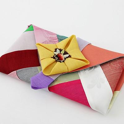 [비단천]고급 격자 예단봉투-현금봉투, 예단비봉투