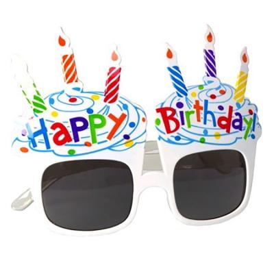생일 케이크 선글라스 (화이트)