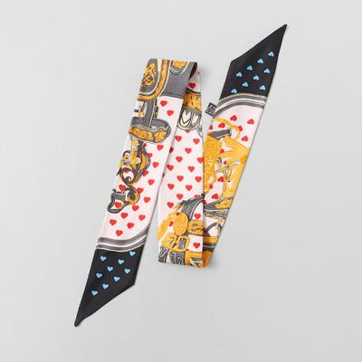 Silk Heart Petit Tie Scarf