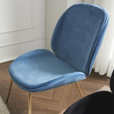 심플라인 벨벳 골드 철제 의자