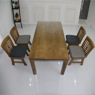 N436 4인 원목 식탁 세트(의자형) 2colors