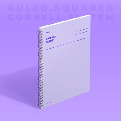[모트모트] 스프링북 - 바이올렛 (룰드) 1EA