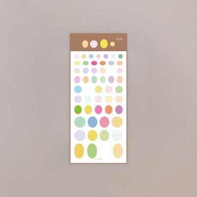 [호호문방구] 똥글뚱글 홀로그램 스티커