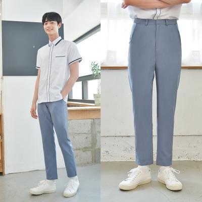 [빅사이즈] 하복 스판 청색 교복바지(남자) ~6XL