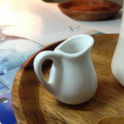 카페 미니 크리머 용기 컵 잔