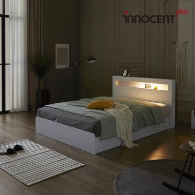 [이노센트] 리브 메시아 LED 수납 침대 Q/K