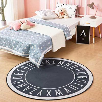 Home interior Alphabet 원형러그 사이즈100 3color