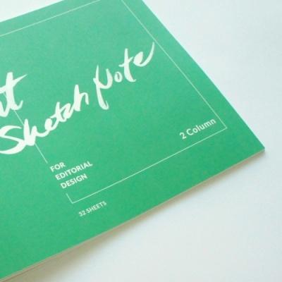 편집 웹 디자이너 스토리보드 스케치북 / 레이아웃 스케치 노트 (2단)