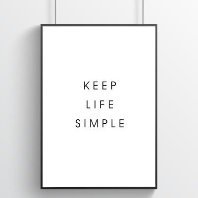 Keep Life Simple - 미니멀 타이포포스터