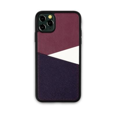 스매스 아이폰11프로 맥스 보호 가죽 카드케이스 오원_퍼플(사피아노)