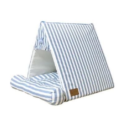 북유럽 줄무늬 하우스 블루 강아지집 애견하우스