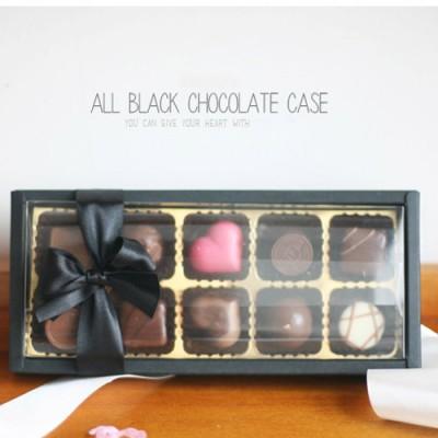 초콜릿상자-블랙앤투명 10구