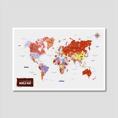 세계지도 아트프린트 에디션 no. 0012