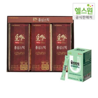 [헬스원] 황작 홍삼스틱(30포)+프리바이오틱스(30포)