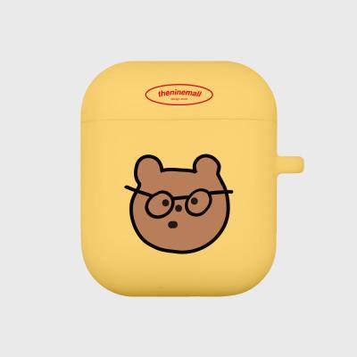 안경 gummy 에어팟 케이스[yellow]