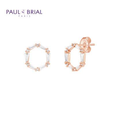 폴브리알 PYBE0096 (PG) 원형 큐빅 귀걸이 大