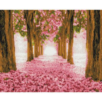 꽃 길 (캔버스형) 보석십자수 40x50