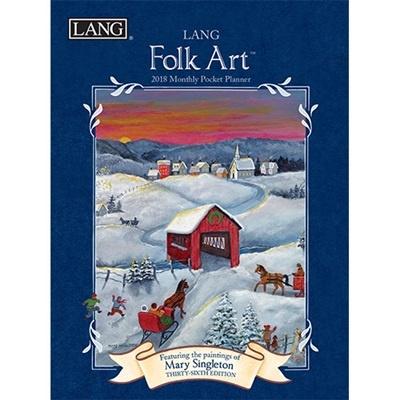 2018 포켓 다이어리 - LANG Folk Art