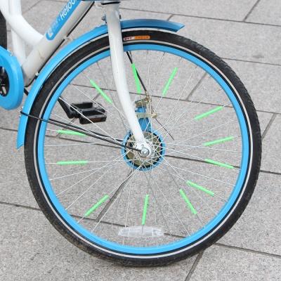 자전거 휠라이트 반사 스트로우 12p세트