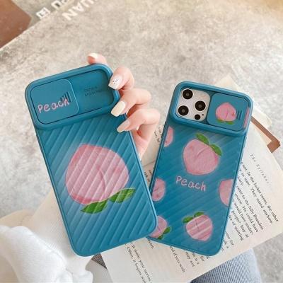 아이폰12 11 pro max xs 8 피치 슬라이드 젤리 케이스