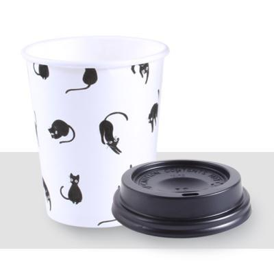 종이컵_10온스 고양이 + 일반형블랙10세트