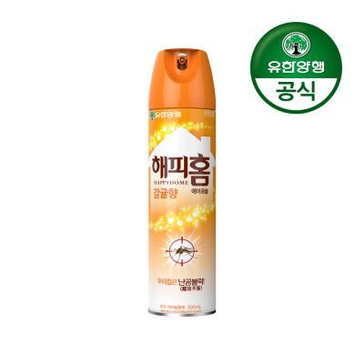 [유한양행]해피홈 모기약 에어로솔 500ml 감귤향(1입)