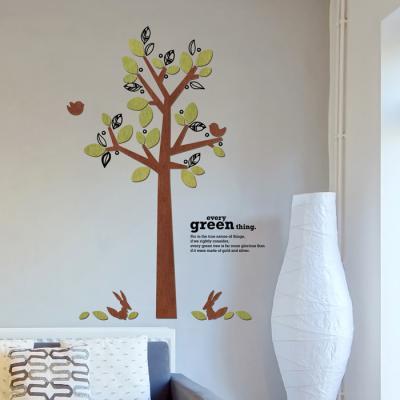 우드스티커- 스프링데이 (컬러완제) 나무 W524 월데코
