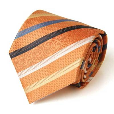 Hombre Naranja 스트라이프 수동 넥타이 CH1623701