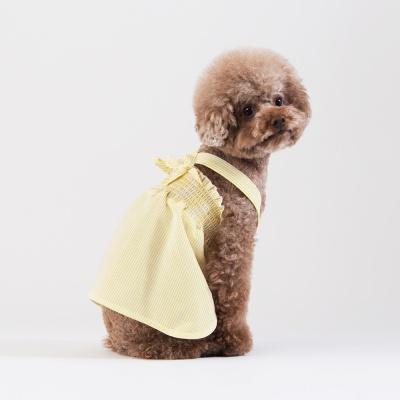 스니프 X 스트랩 스트라이프 드레스 (옐로우)