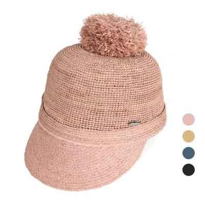 [디꾸보]라피아 방울 캡 모자 DCH-AC538