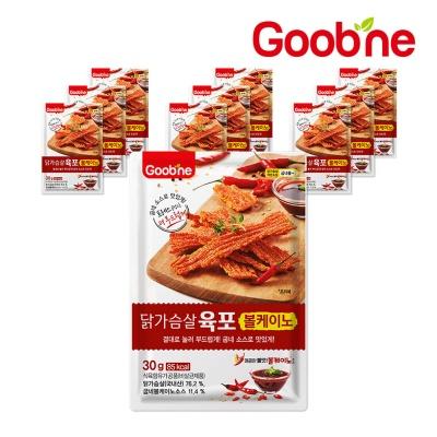[굽네] 닭가슴살 볼케이노 육포 30g 10팩