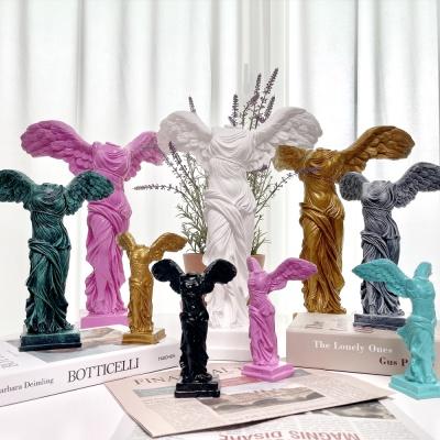 승리의 여신 니케 조각상 석고상 소형15cm 화이트