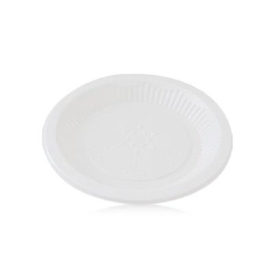 일회용 접시 위생 식기 트레이 캠핑 그릇 18cm 10매입