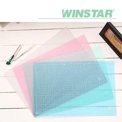 [00032791] 윈스타 PVC 반투명 데스크 커팅 매트 A2 620X450