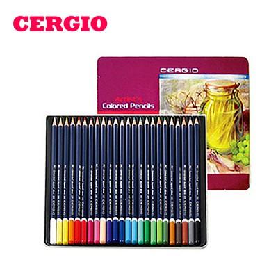 부드러운 질감의 세르지오 유성색연필 24색
