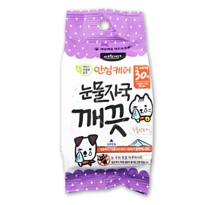 에티펫 눈물자국 깨끗 물티슈 (30매)