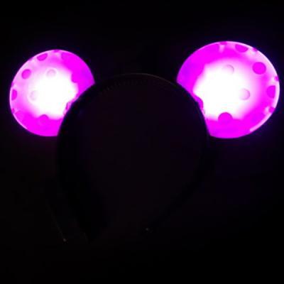 LED 미키머리띠(핑크)