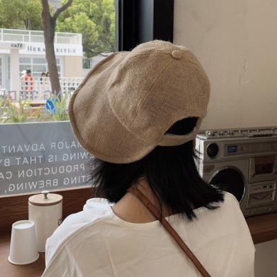 제이 린넨 벙거지 버킷햇 자외선차단 모자