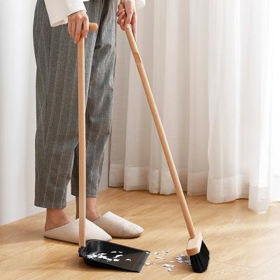 우드 롱핸들 방 청소 사무실 빗자루 쓰레받기 세트